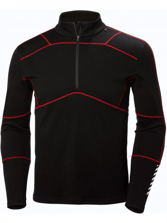 Mens Lifa Merino Max 1/2 Zip Black