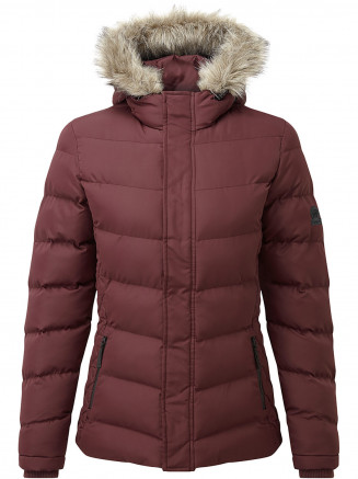 Womens Bartle Insulated Jacket Red