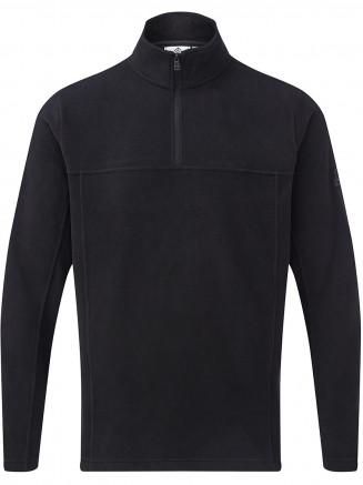 Mens Hecky Fleece Zip Neck Black
