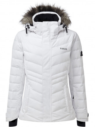 Womens Kirby Waterproof Down Filled Ski Jacket White