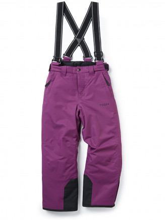 Kids Knot Waterproof Insulated Ski Pants Purple