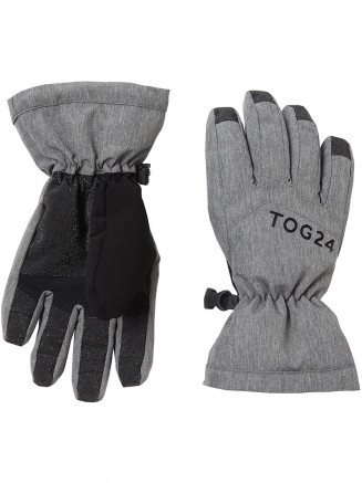 Kids Lockton Waterproof Ski Gloves Grey
