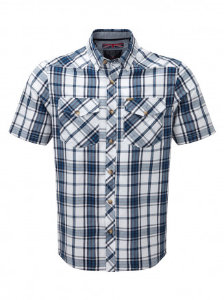 Mens Oliver Tcz Cotton Shirt Blue