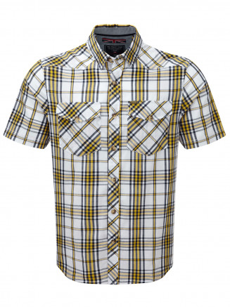 Mens Oliver Tcz Cotton Shirt Yellow