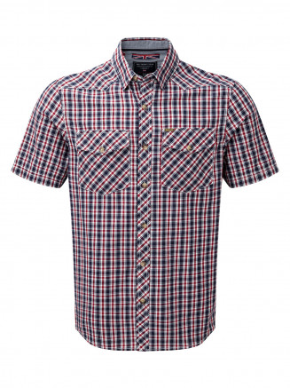 Mens Oliver Tcz Cotton Shirt Red