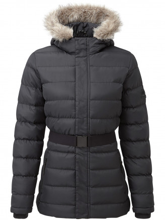 Womens Storey Long Insulated Jacket Black