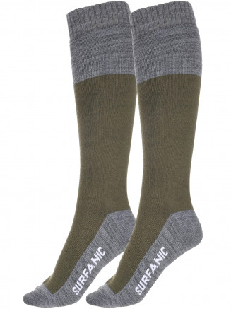 Mens Freeride Pro Tech 2 Pack Sock Green