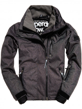 Mens Snow Wind Bomber Black