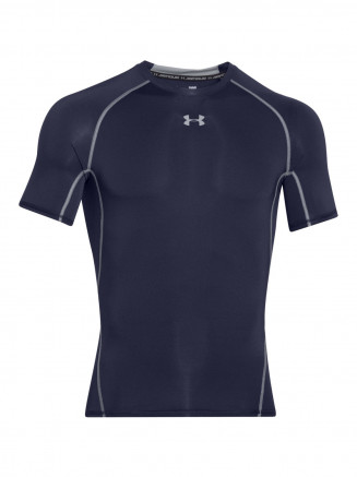 Mens Heatgear Armour Compression Shortsleeve T Shirt Blue