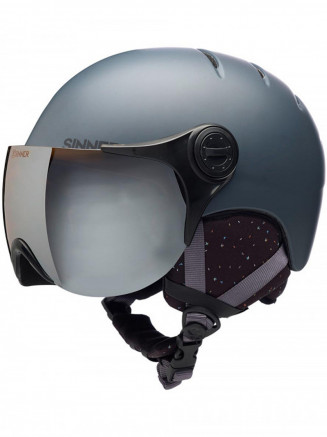 Mens Womens Crystal Helmet Grey