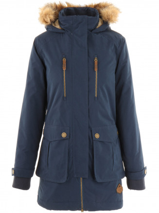 Womens Faro Parka Jacket Blue