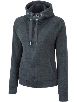 Womens Inez Zip Thru Fleece Grey