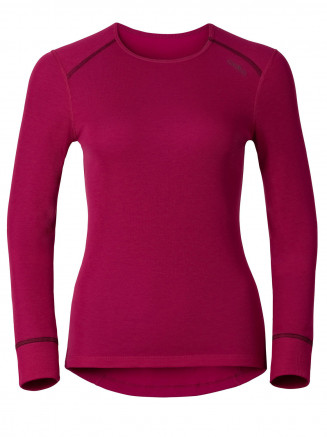 Womens Warm L/s Crew Neck Red